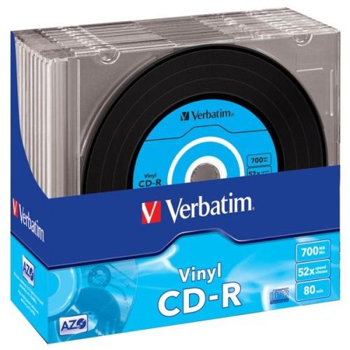 VERBATIM CD-R Slim/Vinyl/AZO/52x/700MB