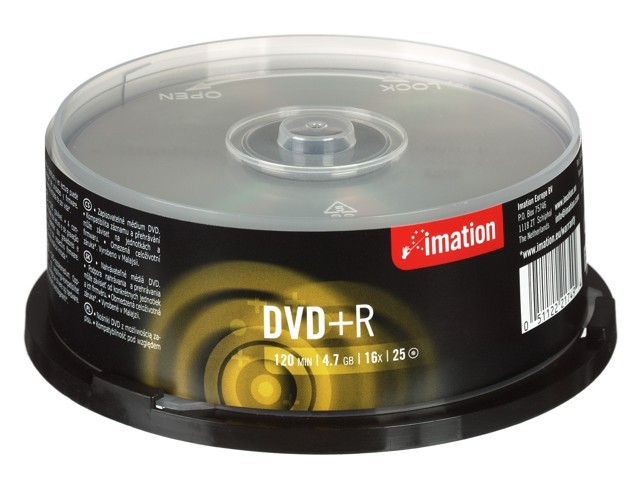 Imation DVD+R(25-Pack) Spindle/16x/4.7 GB