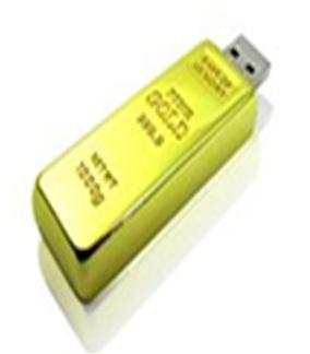 Flashdisk zlatá cihla, 4GB (BM07)