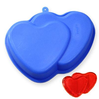 Silikonová forma - dvě srdce (BM06)