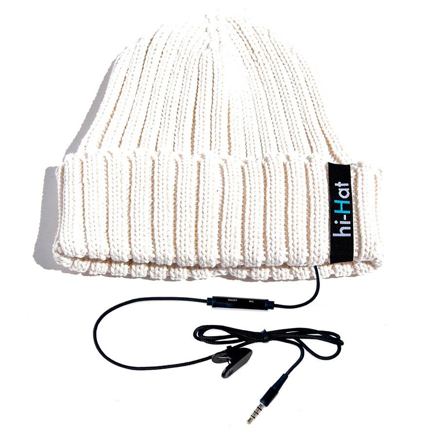 Hi-Hat čepice s reproduktory|bílá (B16)