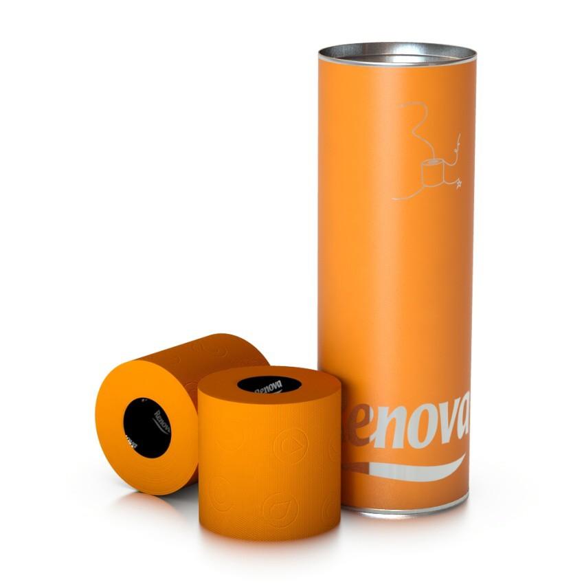 Luxusní toaletní papír oranžový (B37)