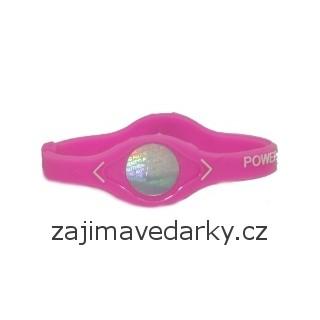 Power Balance náramek - Růžová - velikost M (B12)