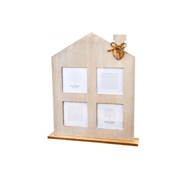 Dřevěný rámeček na fotky - domeček