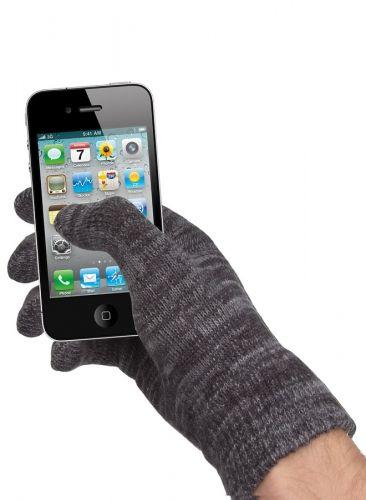 Rukavice pro dotykové telefony černé, velikost M (B11)