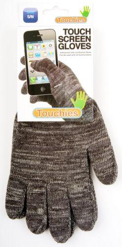 Rukavice pro dotykové telefony šedé, velikost M (B11)