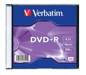 VERBATIM DVD+R Slim/16x/4.7GB