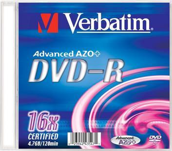 VERBATIM DVD-R Slim/16x/4.7GB
